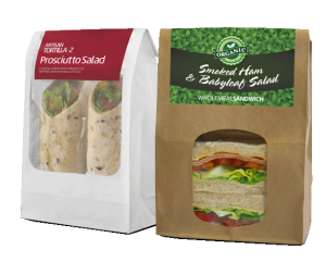 Sandwich and Tortilla Wrap packaging